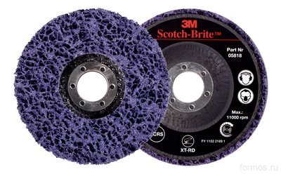 Диск Scotch-Brite™ Clean & Strip 3M™ 05818  XT-RD S XCS фиолетовый 115мм х 22мм