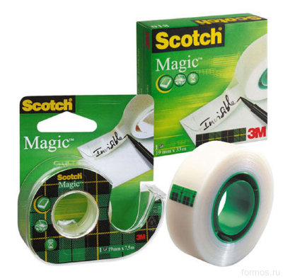 3M™ 810RUS невидимая клейкая лента Scotch ® Magic в коробочке, 19 мм х 33 м