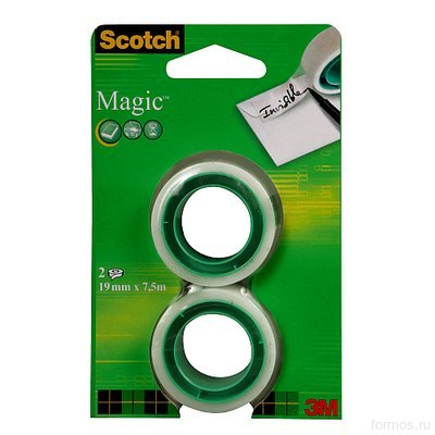 3M™ 8-1975R2 невидимая клейкая лента Scotch ® Magic, (рефиллы), 19 мм х7,5 м