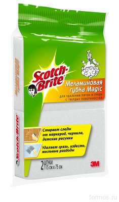 3M™ MEL-2 губка Scotch-Brite ™ Magic меламиновая для удаления пятен